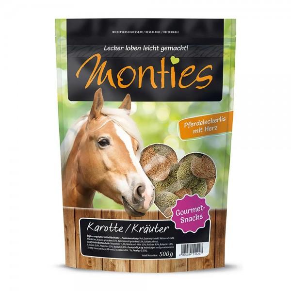 Monties Pferde-Snack Karotte & Kräuter