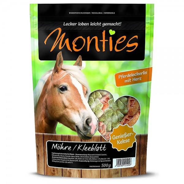 Monties Pferde-Snack Möhre Kleeblatt